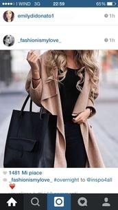 coat,camel,drape,drapped,nude