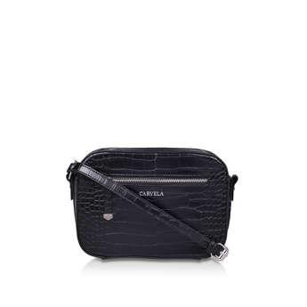 Carvela Daisy Cross Body - Black Croc Cross Body Bag