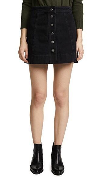 miniskirt denim dark black skirt