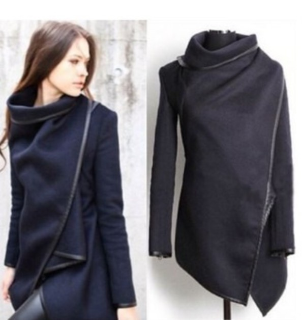 Images of Wrap Coat With Hood - Reikian