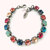 GYPSY PASSION, 8mm Swarovski crystal tennis bracelet, multi-colored, bohemian, Siggy