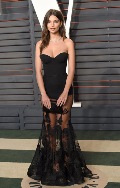 Bustier Bustier Dress Gown Emily Ratajkowski Black Dress Lace