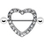 Crystalline Gem Hollow Heart Nipple Shield | Body Candy Body Jewelry