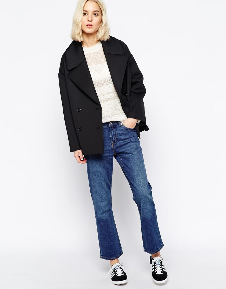 Weekday bonded coat at asos.com
