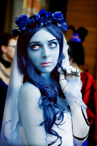 jewels blue flowers corpse bride