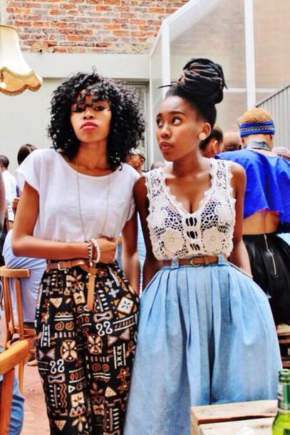 shirt top skirt pants african american african american african print african pattern african pants ethnic ethnic pattern ethnic print ethnic pants black