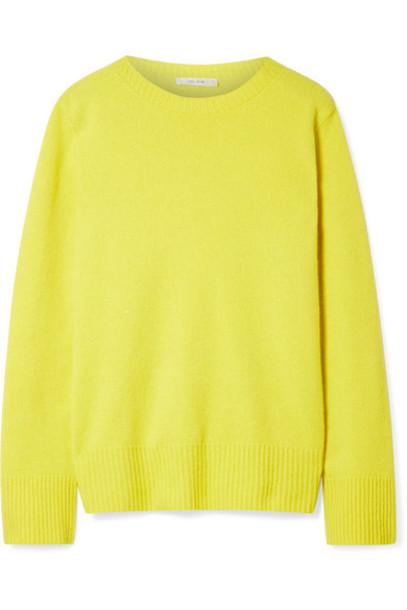 sweater oversized wool yellow bright