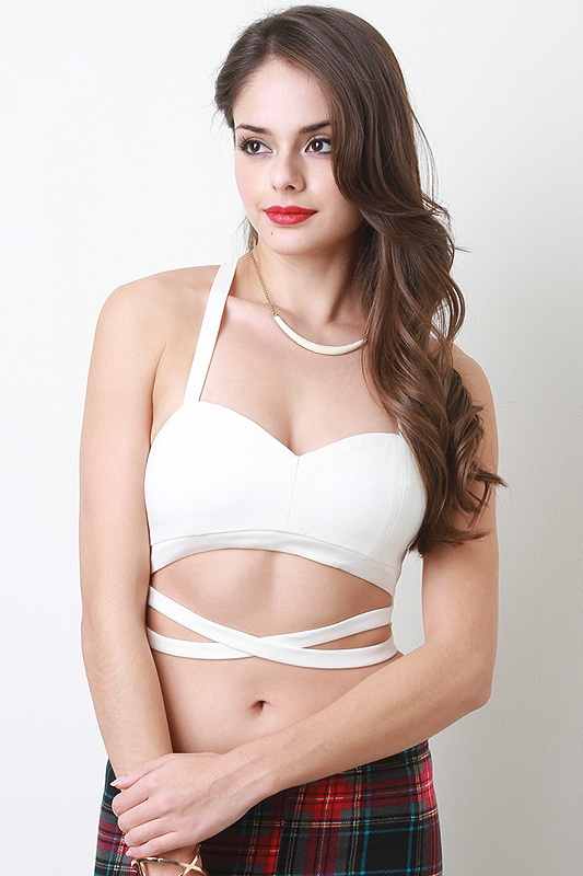 Upper strappy crop top