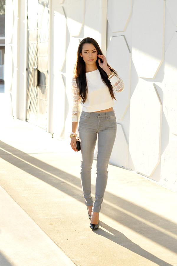 hapa time blogger top jeans leggings shoes bag jewels