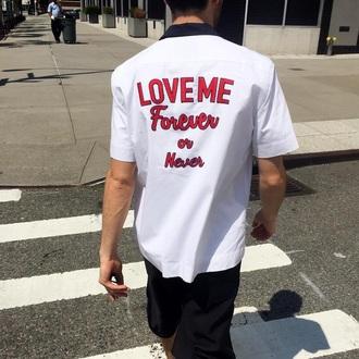 shirt tumblr tumblr shirt vogue white red unisex men style women