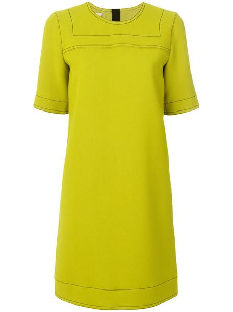 MARNI dress shift dress women classic silk wool green