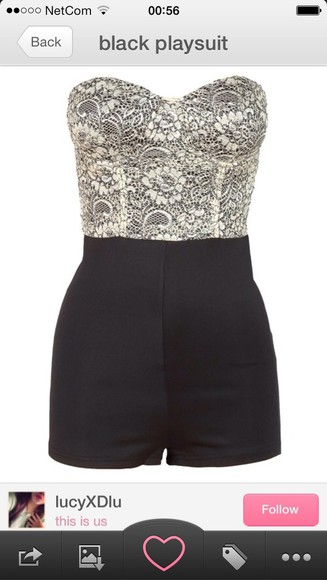 diamond dress black playsuit