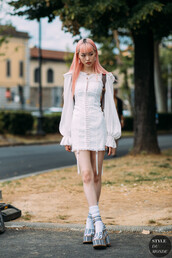 dress,dressw,white dress,long sleeve dress,shoes,sandals,heels sandals