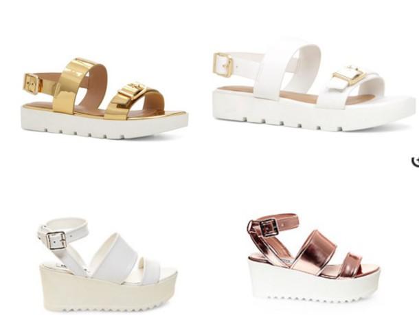 shoes, platform shoes, sandals, strappy