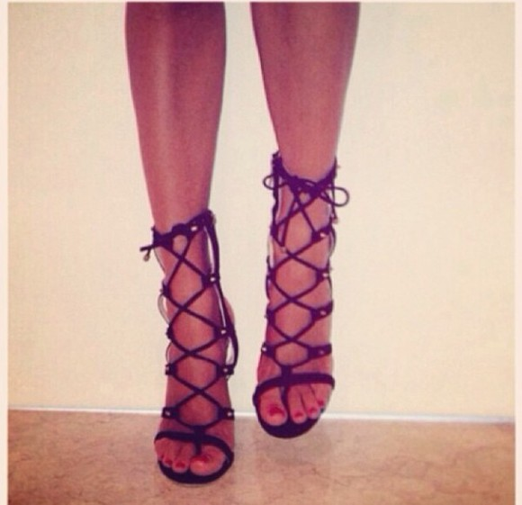 shoes high heels black heels gladiator heels