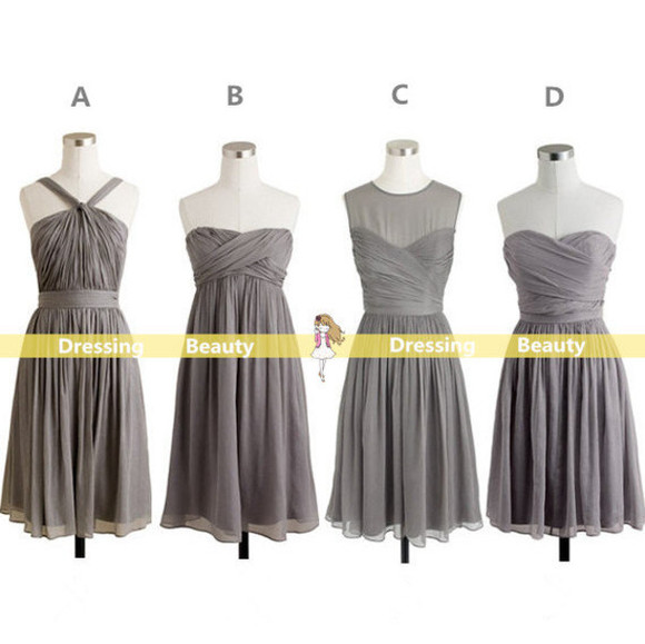 bridesmaid bridemaid dress 2014 wedding clothes wedding dress grey bridesmaid dress wedding party dress short party dresses short prom dress