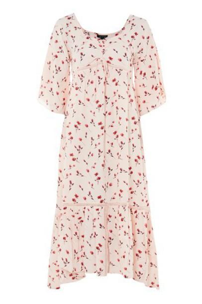 dress midi dress midi floral nude