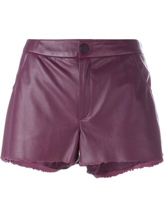 shorts leather shorts leather purple pink