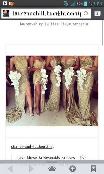 dress sequin dress gold sequins bridesmaid different styles