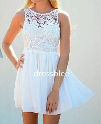 dress white lace fashion classy casual
