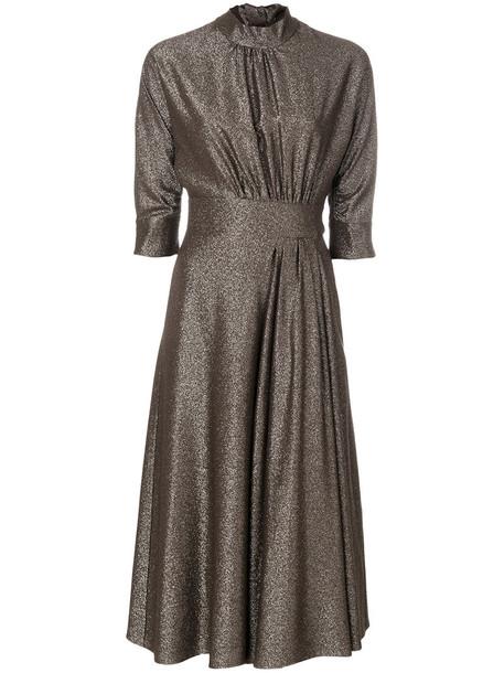 Prada dress high women silk brown