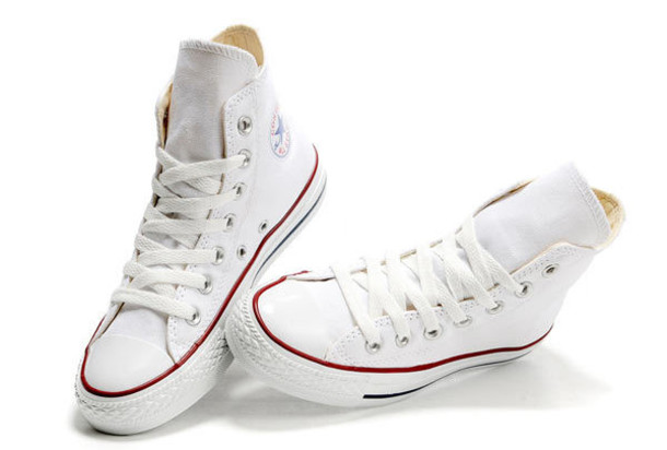 boys white high top converse