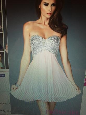 dress prom dress pink dress strapless dresses sexy prom dresses chiffon dress beaded short dresses beaded top