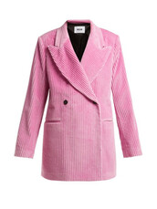 blazer,double breasted,cotton,pink,jacket