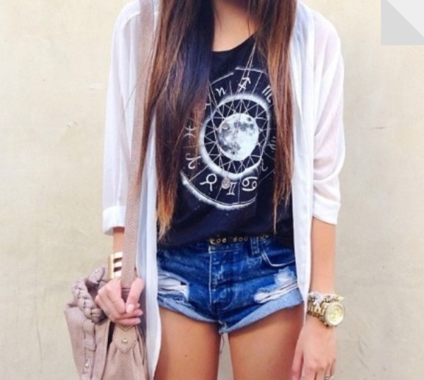 shirt black. aztec moon t-shirt shorts