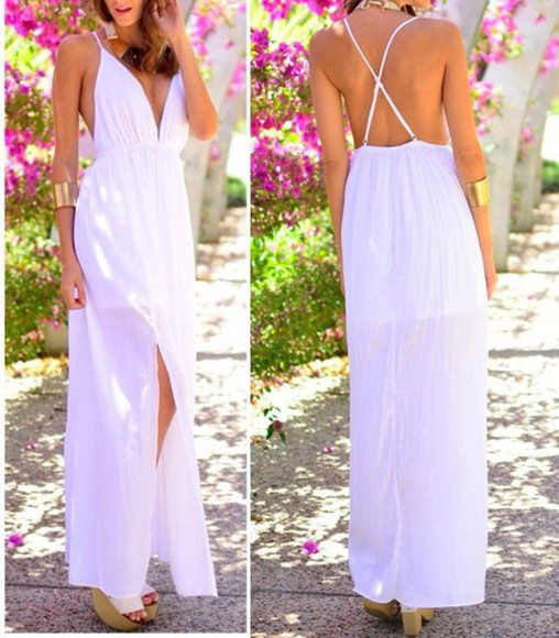 maxi godess greek halter v-neck