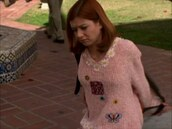 sweater,allison hannigan,allison,hannigan,buffy,the,vampire,slayer,buffythevampireslayer,pink,fall outfits,fluffy,top,winter outfits,warm,flowers,willow,spike,ange,darla,dru,90s style,1900s,1900s fashion,90's fashion,90's shirt,2000s,2000 fashions