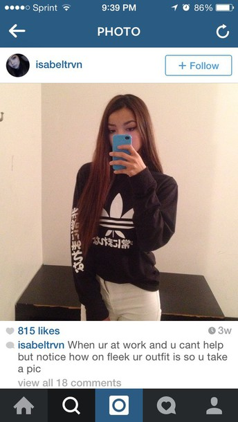sweater crewneck hoodie adidas sweater