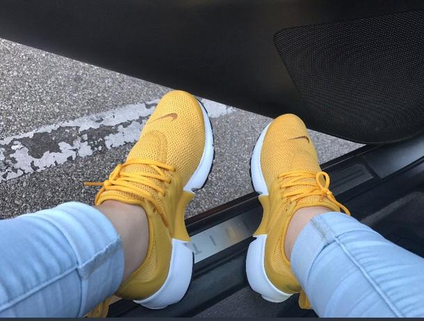 nike presto yellow