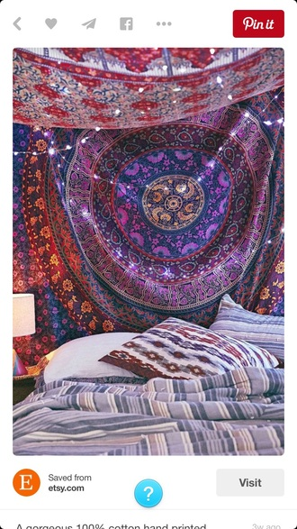 home accessory striped blanket bedding boho tapestry