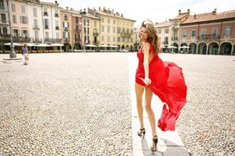 dress red dress summer dress