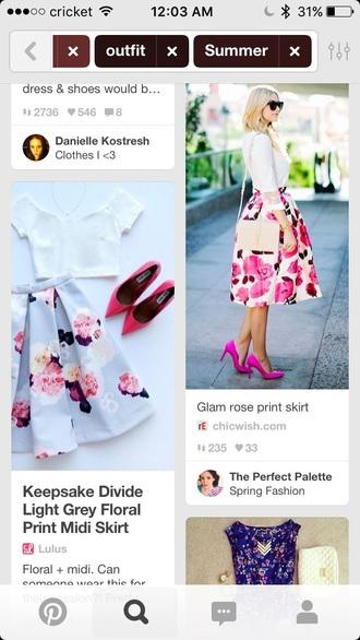 shirt print midi skirt