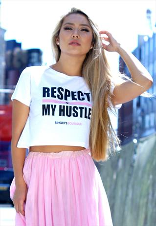 Respect My Hustle - Crop Top | Binghi's Boutique | ASOS Marketplace
