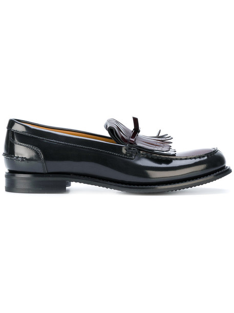 Church's women loafers leather brown shoes