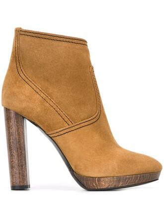 heel high heel high women boots ankle boots leather nude suede shoes