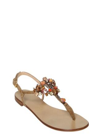 embellished sandals suede shoes