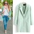 Lady Women Lapel Wool Cashmere Jacket Winter Long Parka Trench Outwear Coat M L