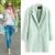 Lady Women Lapel Wool Cashmere Jacket Winter Long Parka Trench Outwear Coat M L