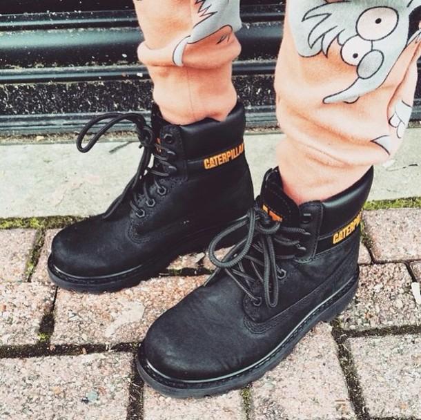 pants light orange orange cartoon track pants shoes
