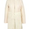 Ulyana sergeenko paris beige white wool long coat with faux fur hem patchwork | ebay