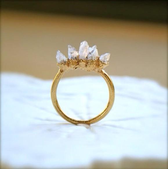 jewels ring gold vintage jems stones