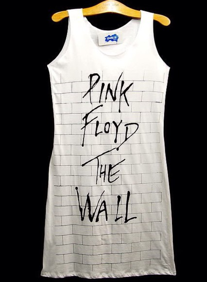 dress pink floyd white bodycon dress bodycon dress
