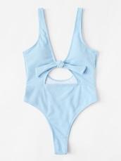 swimwear,blue,girly,one piece swimsuit,one piece,cut-out