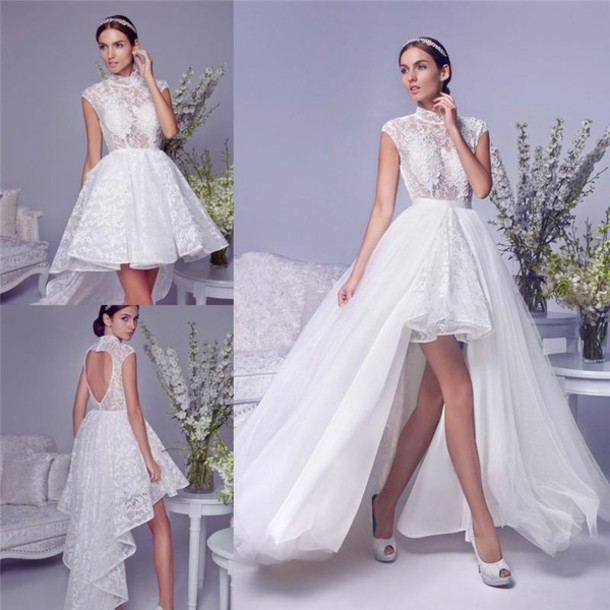 Plus size wedding dresses with removable trains wedding for Plus size after wedding dress