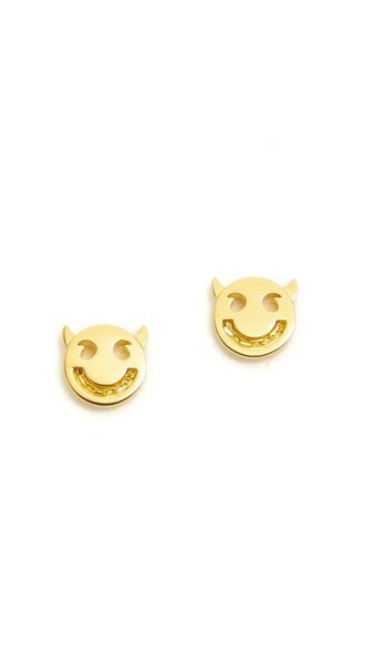 friends earrings stud earrings gold jewels