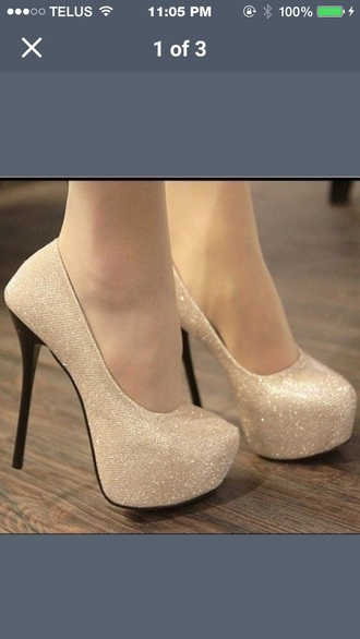 pretty shoes white sparkles high heels heels white shoes nude high heels